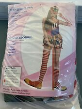 Ladies Rainbow Clown Fancy Dress Sexy Clown One Size 10-14