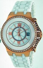 Oniss ON669-LRG Women Fantasy Collection Rose MOP Dial White Ceramic Watch