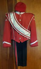 vintage stanbury marching band uniform beret red black silver size small 231