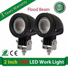 2x 10W 1000lm CREE FLOOD BEAM OFFROAD 12V 24V LED WORK LIGHT 4WD SUV TRUCK BOAT