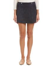 Theory Murta Wilmore Lamb Suede Skirt H0100306 Navy Size 4 $695
