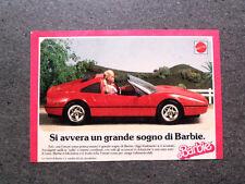 I202-Advertising Pubblicità-1988- BARBIE , MATTEL , LA FERRARI