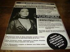 ROMY SCHNEIDER - Publicité de magazine ALBUM-SOUVENIR !!!!!!!!!!!
