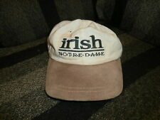 Men's Irish Notre Dame Tan Baseball Cap Hat with Adjustable Clip Back