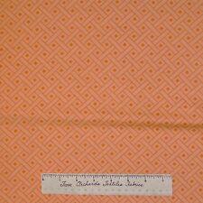 Modern Mod Fabric - Orange Sherbet Basketweave Geo - Dear Stella Cotton YARD