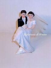 Cake topper matrimonio Sposa in braccio nozze decorazione torta