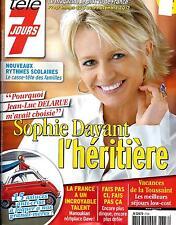 TELE 7 JOURS N°2736 3 NOVEMBRE 2012  SOPHIE DAVANT HERITIERE DE DELARUE
