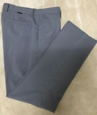 Greg Norman Gray Poly Spandex Flat Front Golf Pant Worn Once 34x32 $75