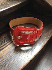 Fendi Gürtel Damen Leder Rot