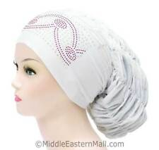 Petite stylish chemo hats Royal  Arch Design #3 White- chemo hats Hair Loss USA