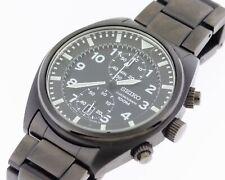 Seiko 7T94-0BL0 Black Dial Chronograph Watch