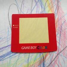 Rosso Nintendo Gameboy Color Lente Schermo Di Ricambio