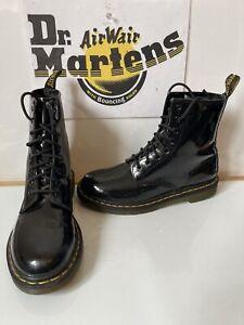 Dr. Martens 1460W Black Leather Boots Size UK 7 EU 41