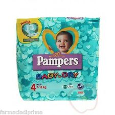 PAMPERS Baby-Dry 4°misura 7-18 kg 4 confezioni 76 pannolini