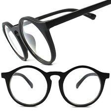 Old Retro Funky Goth Style Steampunk Costume Black Oversized Big Round Glasses
