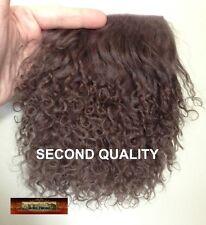 M00040 MOREZMORE Tibetan Lamb Fur MOCHA BROWN Seconds Doll Baby Hair T20