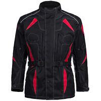 Motorradjacke Herren Textil Jacke Cordura Roller Schwarz Rot Gr. M bis 6XL 777