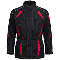 Motorrad Jacke Limitless Herren Kombi Textil Cordura Schwarz Rot M bis 6XL  777