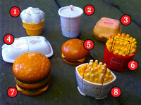 VINTAGE McDonald's 1989 Robot CHANGEABLE Food Transformer PICK YOUR FAVORITE TOY