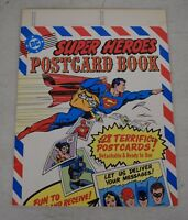 Super Heroes Postcard Book 28 Cards DC Batman Superman Wonder Woman Misprint