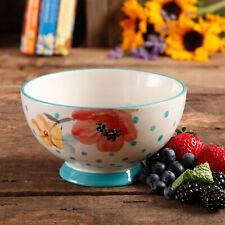 The Pioneer Woman Vintage Bloom 4-Piece Footed Bowl Set
