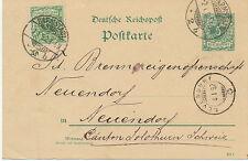"""DT.REICH """"DARMSTADT / 2"""" K2 a. 5 Pf blaugrün Reichspost GA-Postkarte Zusatzfrank"""