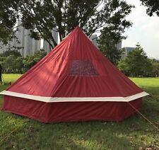 Bell tent 5 Meter 5M Wine Burgundy ZIG Zipped in G.Sheet CAMPING Tent Mesh Door