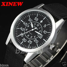 Men's Army Watch Digital Stainless Steel Military Sport Date Quartz Wrist Watch