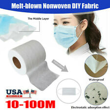 10 - 100M Melt-blown Nonwoven DIY Fabric Mouth Face Craft Filter Interlining US