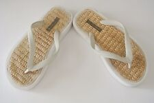 White J. CREW Ladies Flat Flip flops, most likely Sz 5 (Sole to Toe, 9 in long)