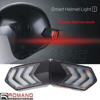 Warning LED Brake Helmet Light Motorbike Night Driving Signal Light USB Charging