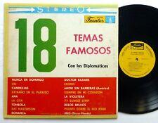 Los DIPLOMATICOS 18 Temas Famosos LP Fuentes 0177 bolero cumbia salsa Bx203