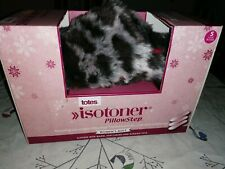 Ladies Totes Isotoner PillowStep Mules Slippers Leopard Print Grey Size S UK 3-4