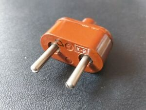 Vintage Russian Electric 2-pin Power Mains Plug Vintage Bakelite Red-Brown USSR