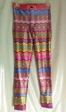 Small American Apparel NEO MAX Aztec Pants, Multicolored, Shiny Spandex.