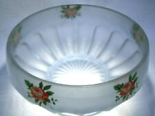 More details for art deco  bagley blue frosted  glass  rose bowl