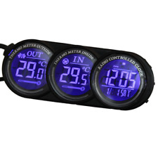 Blue LED Digital Car Inside Outside Thermometer Calendar Clock