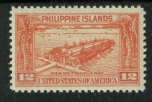 U.S. Possession Philippines stamp scott 356 - 12 cents issue of 1932 - mlh #8