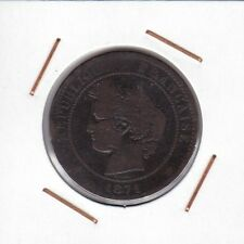 France : 10 Centimes 1871 K ( Bordeaux ) RARE