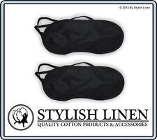 Travel Eye Mask Sleep Soft Blindfold Cover Rest Sleeping Eyepatch New Black x 2