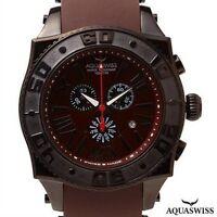 AQUASWISS SWISSport XG 50 MM Chronograph Stainless Steel SWISS Luxury Watch  NIB