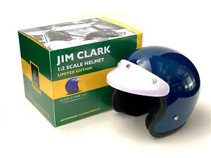 Jim Clark 1:2 scale helmet. Jim Clark Trust. Classic Team Lotus. Formula 1 BNIB