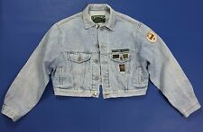 Chambers jacket jeans giubbino M vintage bomber giacca denim usato donna T2556