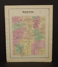 New York  Ontario County Map Bristol Township 1874 W15#31