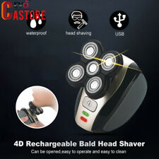 Men 4D Rotary Electric Shaver Rechargeable Bald Head Shaver Beard Trimmer USB