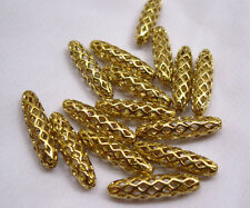 Long Tube Spacer Raw Brass Findings Loose Bead Vintage Style bs016 (10pcs)