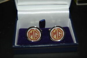 MG CUFF LINKS SILVER IN BOX COLLECTABLE BNIB