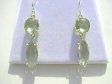 Prasiolith fac. Ohrhänger 925 Silber E7137 Green Amethyst earrings orecchini