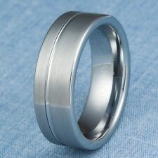 Tungsten Carbide Ring Mens Wedding Band Size 8