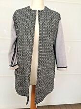 Custommade jacket coat. M - navy/grey